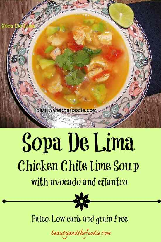 Sopa De Lima, paleo and low carb / beautyandthefoodie.com
