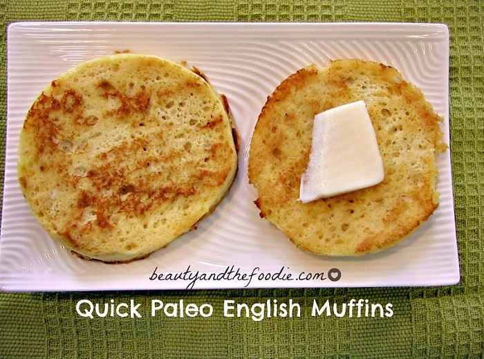 Quick Paleo English Muffins.  Grain free and low carb / beautyandthefoodie.com