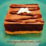 Chocolate Haupia Pie Bars (paleo/ low carb) / beautyandthefoodie.com
