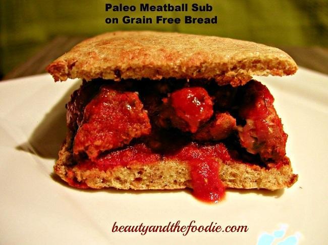 Paleo Meatball Sub / beautyandthefoodie.com