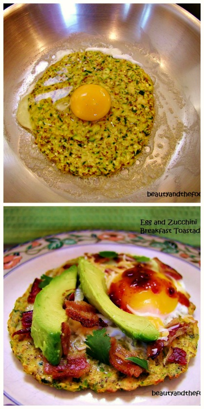 Breakfast Toasada on Zucchini Tortilla, paleo and low carb / beautyandthefoodie.com