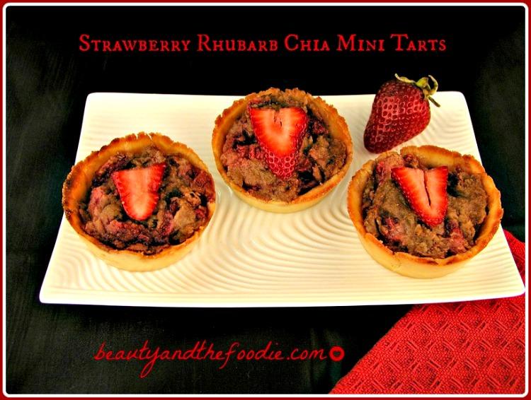 Strawberry Rhubarb Paleo Mini Tarts