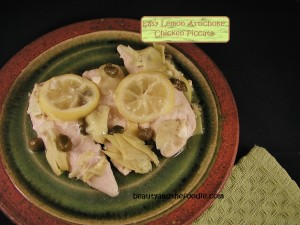 baked lemon artichoke chicken piccata
