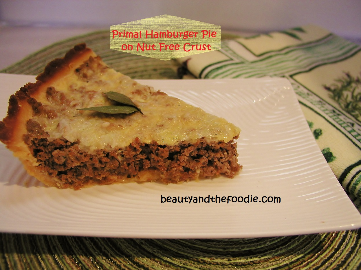 Primal Hamburger Pie with Nut Free Crust