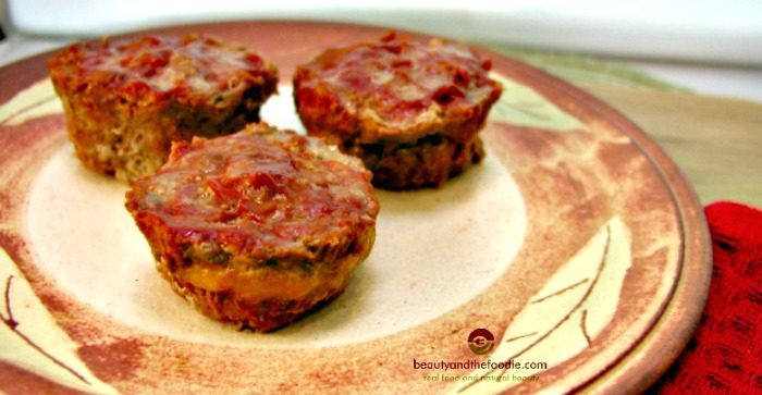 grain free cheese filled mini meatloaf, primal and low crab with paleo option / beautyandthefoodie.com