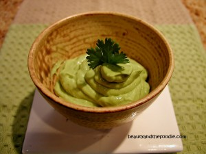 Avocado cilantro lime cream sauce