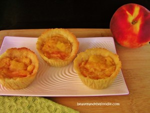 paleo peach pie mini