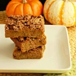 Magical Pumpkin Crumble Bars, paleo and low carb