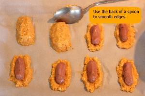 low carb cajun cauliflower mini dogs prep photo 24