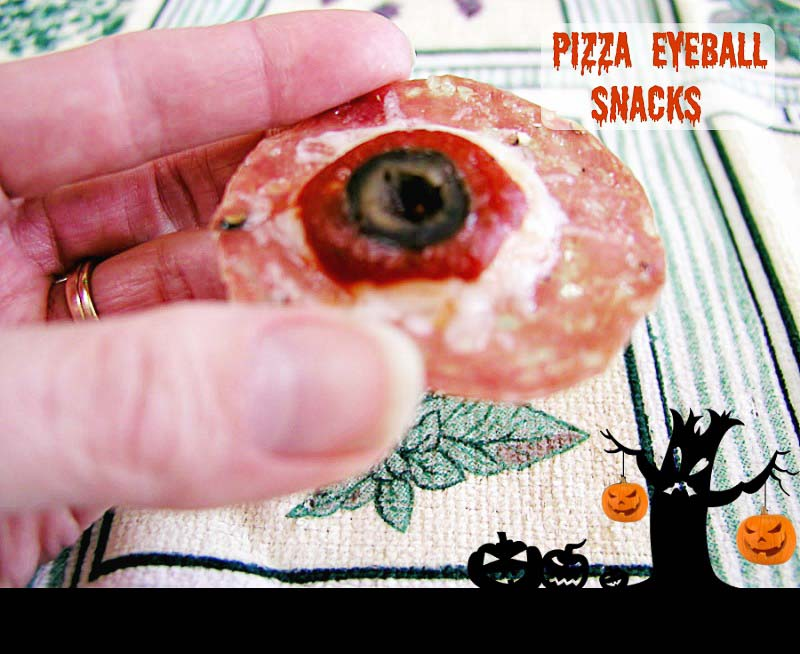 Paleo Pizza Eyeball Snacks- Low carb and primal option. A Zero carb snack!