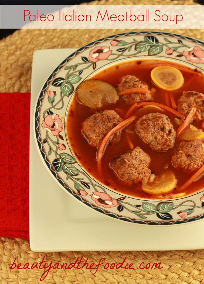 Paleo Italian Meatball Soup (crock pot)