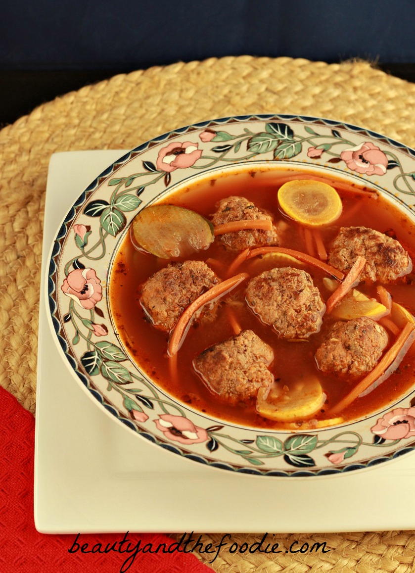 Paleo Italian Meatball Soup (crock pot)