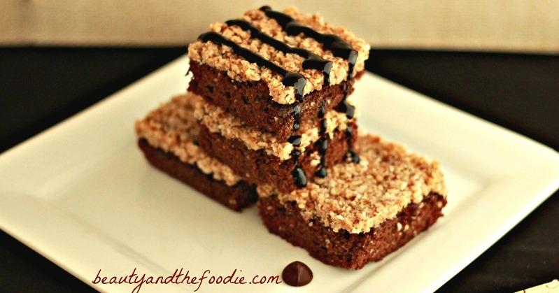 Paleo German Chocolate Brownies / beautyandthefoodie.com