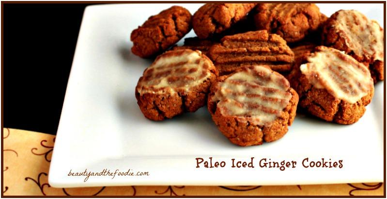 Paleo Iced Ginger Cookies / beautyandthefoodie.com