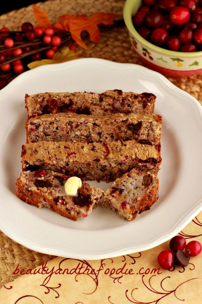 chocolate chip cranberry pecan bread- Grain free and low carb