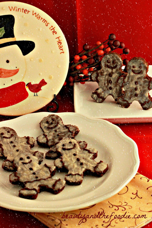 Paleo Chocolate Gingerbread Men / beautyandthefoodie.com