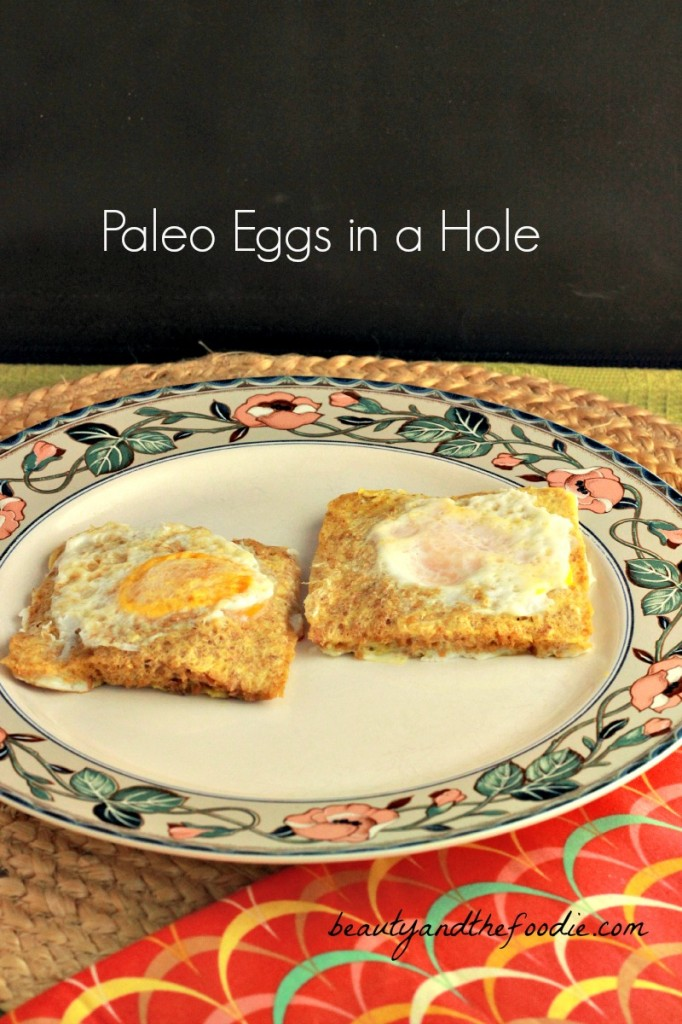 Paleo eggs in a Hole / beautyandthefoodie.com