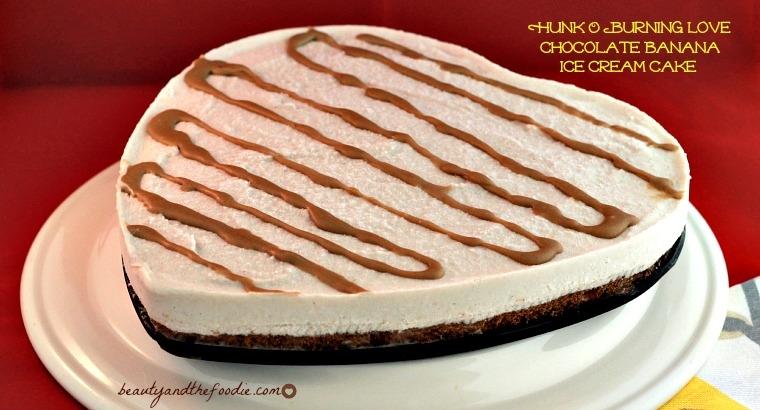Hunk O Burning Love Chocolate Banana Ice Cream Cake, paleo