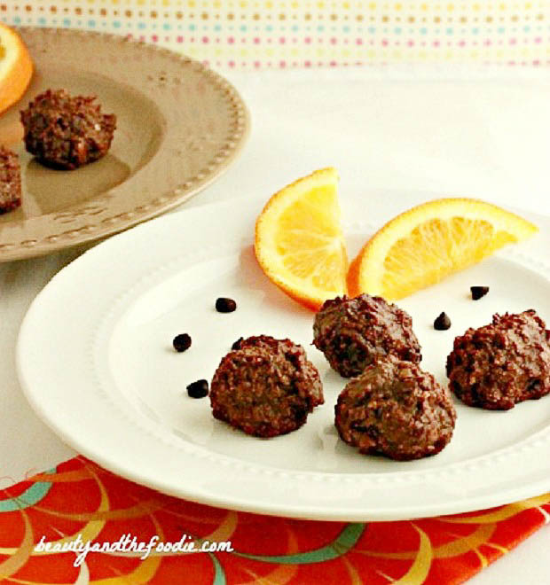 Chocolate Orange Truffle Bites - Low Carb and Paleo.