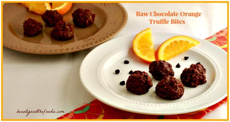 Raw Chocolate Orange Truffle Bites