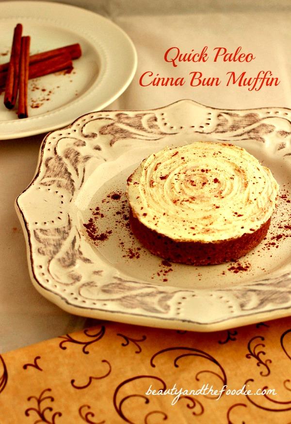 Quick Paleo Cinna Bun Muffins / beautyandthefoodie.com
