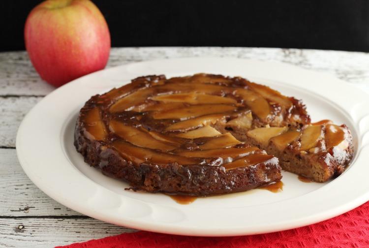 Apple Cake Keto Recipe: Paleo Apple Cinnamon Poke Cake With Caramel Sauce