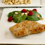 Garlic Cashew Crusted Pork Chops, grain free low carb. beautyandthefoodie.com