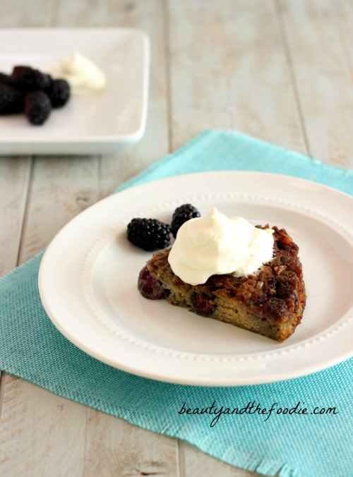 Blackberry Bread Pudding Cake