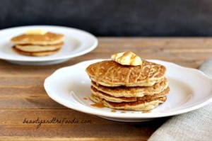 Nutty Butter Pancakes, paleo and low carb. beautyandthefoodie.com