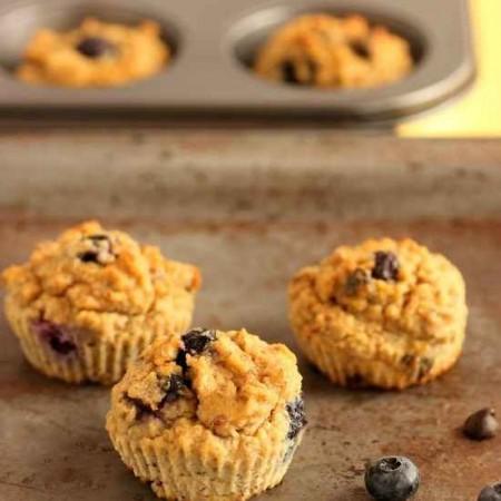 Chocolate Chip Berry Fiber Muffins