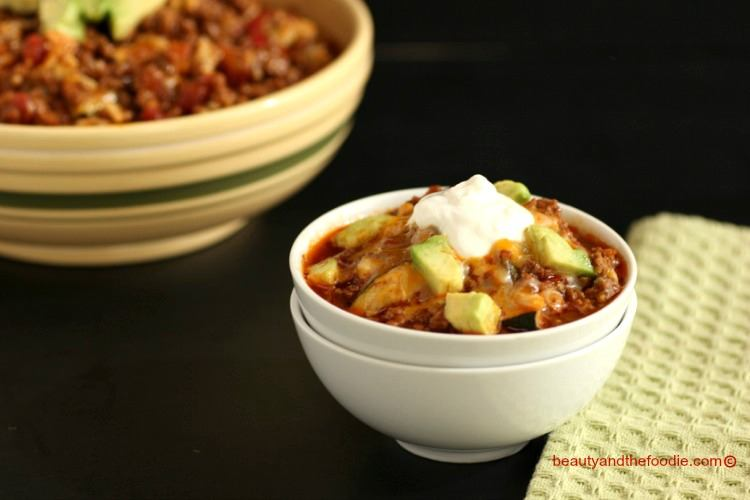 easy chili faux mac skillet is my grain free low carb version of chili ...