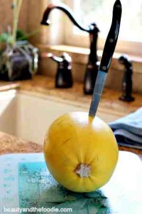 cutting squash