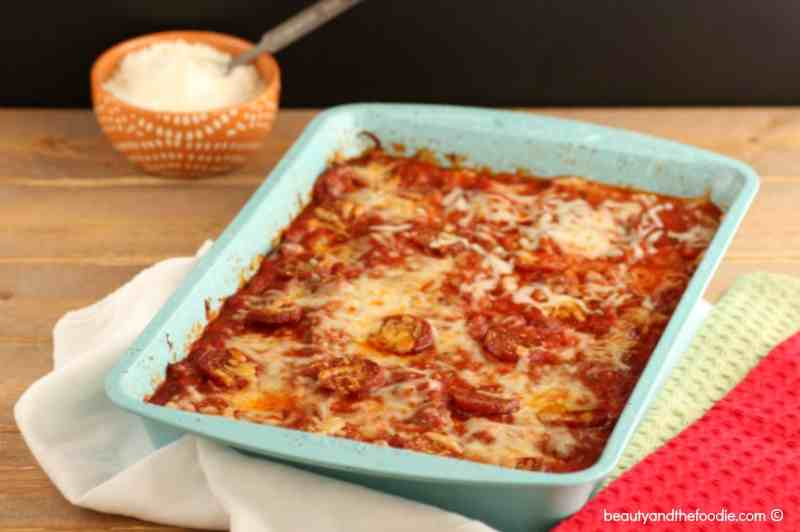 Pizza Squash Noodle Lasagna Bake Beauty and the Foodie