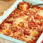 Pizza Squash Noodle Lasagna Bake- Low carb & Gluten free
