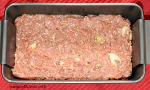 Bacon Mushroom Stuffed Turkey Meatloaf step 1