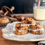 Easy Chocolate Chunk Nut Butter Cookies- Low carb & paleo