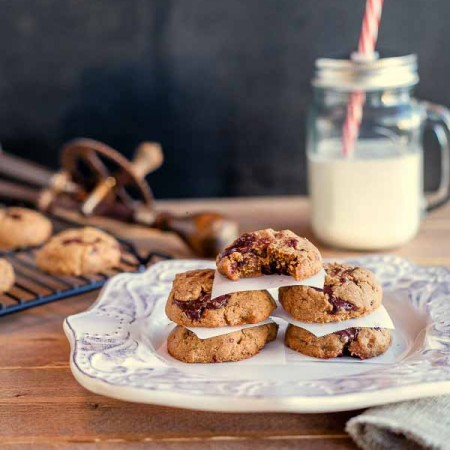 Easy Chocolate Chunk Nut Butter Cookies