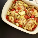 Easy Greek Chicken Bake- low carb, keto and paleo. Easy and super tasty