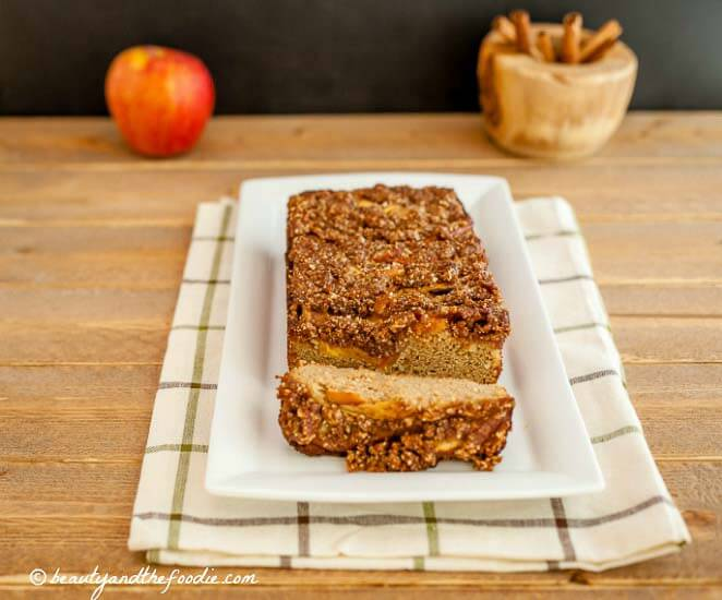 French Apple Pie Bread, grain free, paleo, & low carb