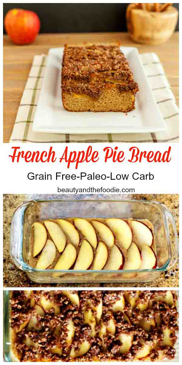 French Apple Pie Bread, paleo & low carb