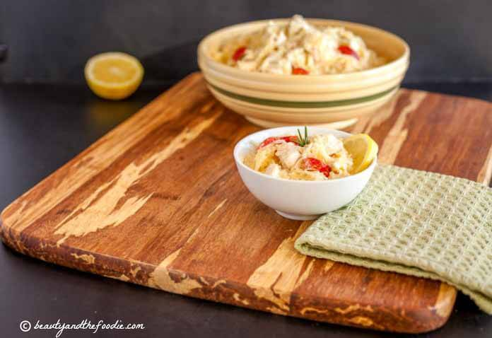 Creamy Lemon Garlic Chicken Noodle Bake that features spaghetti squash ...