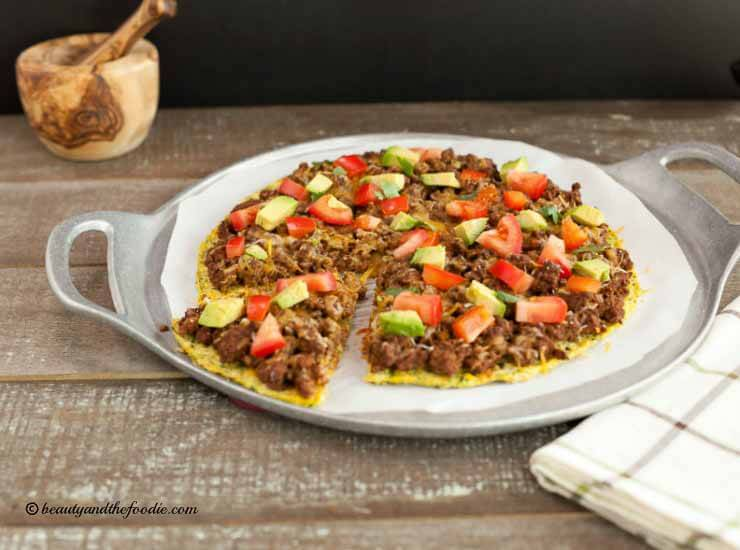 Low Carb Mexican Pizza, grain free, low carb and primal
