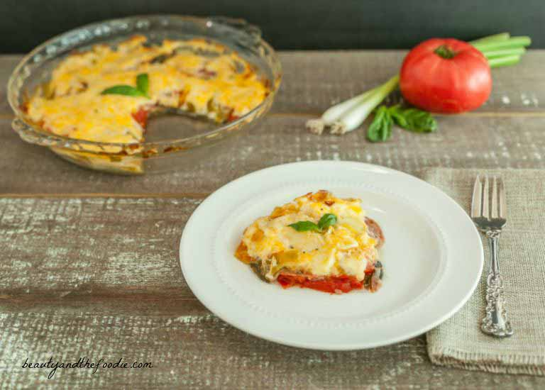 Antipasto Frittata Bake, grain free, low carb with paleo option