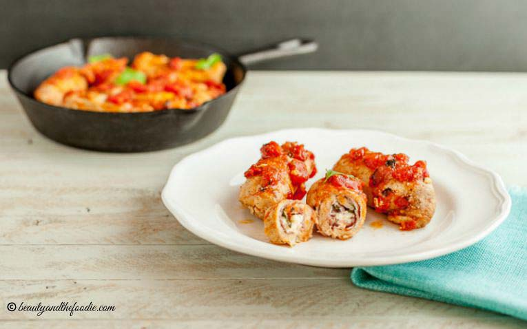 Italian Pork Rollatini Low Carb, Grain free and low carb.