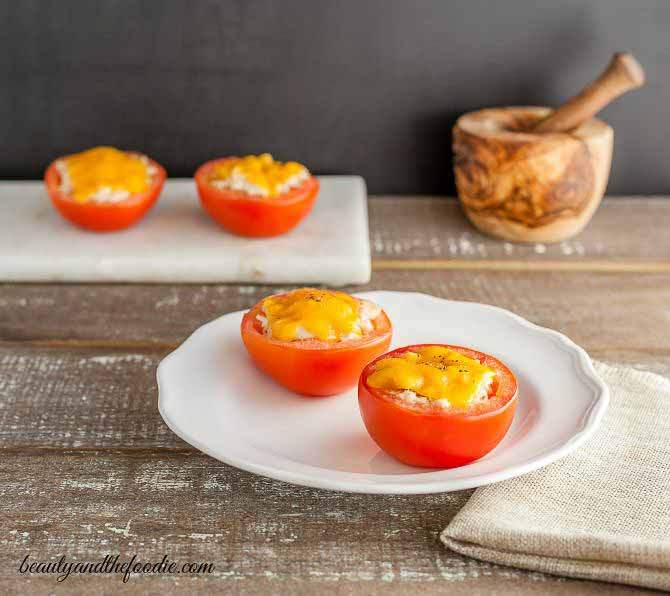 Tuna Melt Stuffed Tomatoes Grain Free, Low carb and gluten free.