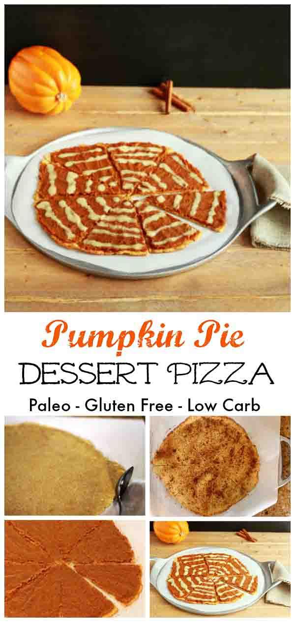 Pumpkin Pie Dessert Pizza- grain free, paleo and low carb