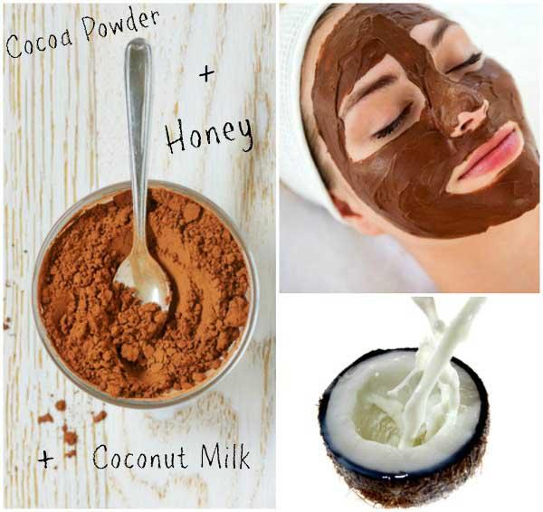 Chocolate homemade facial masks