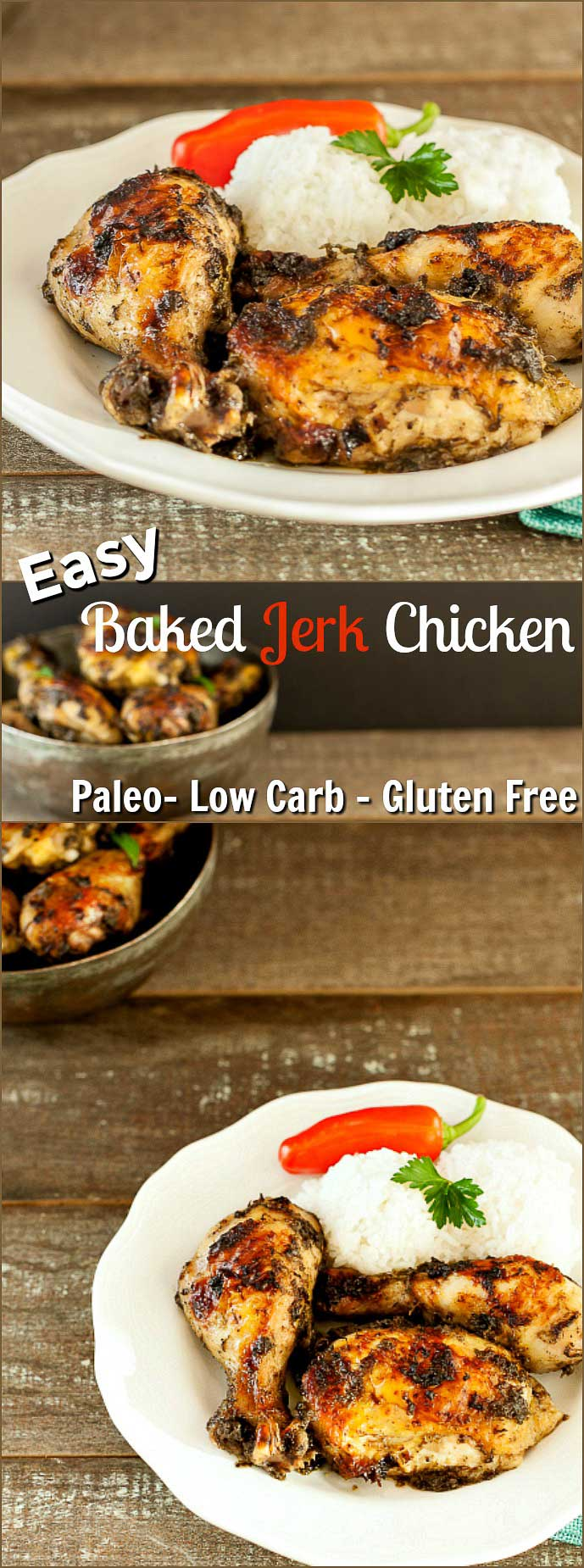 Easy Baked Jerk Chicken- Low Carb , Paleo, and Gluten Free