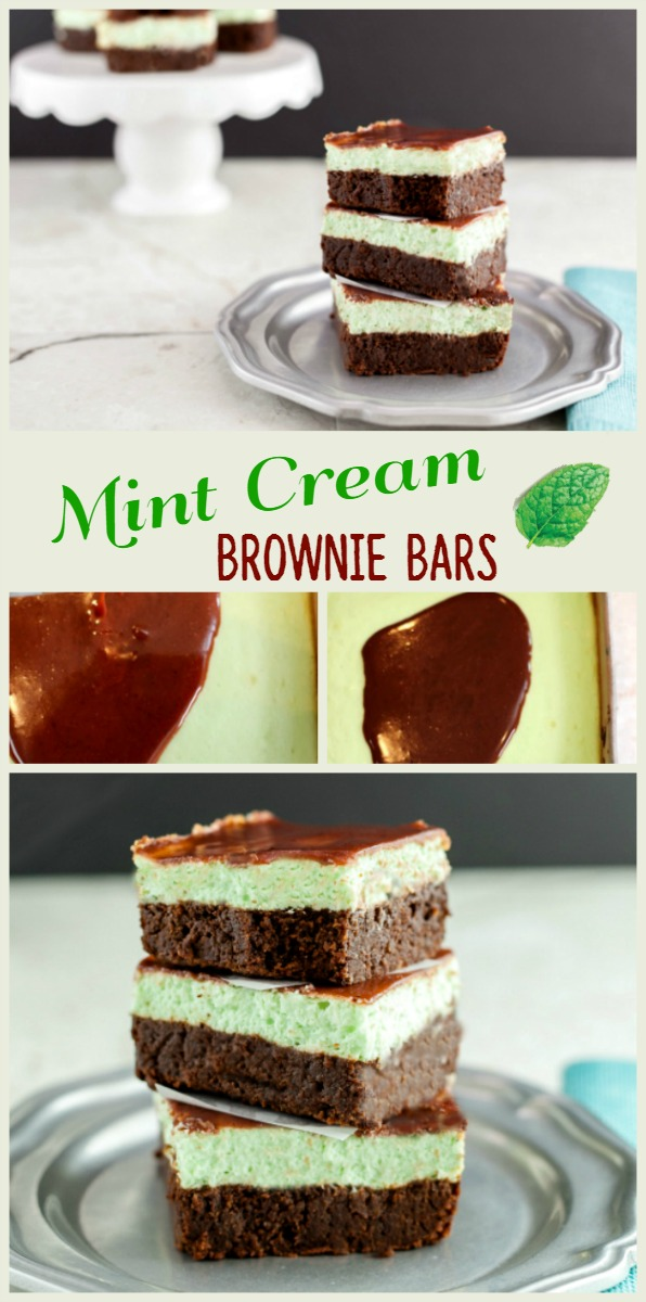 Cream Mint Brownie Bars