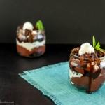 Fudge Brownie Lava Parfaits- Paleo, low carb, keto and gluten free